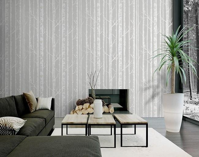 Nếu bạn thích sự đơn giản, sang trọng thì giấy dán tường trơn một màu sẽ là gợi ý tuyệt vời. Bạn chỉ cần chọn màu sắc phù hợp với những món đồ nội thất còn lại là không gian đã rất cuốn hút.
